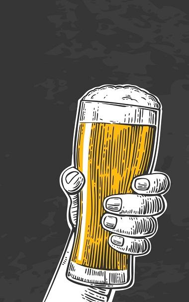 cold beer illustration